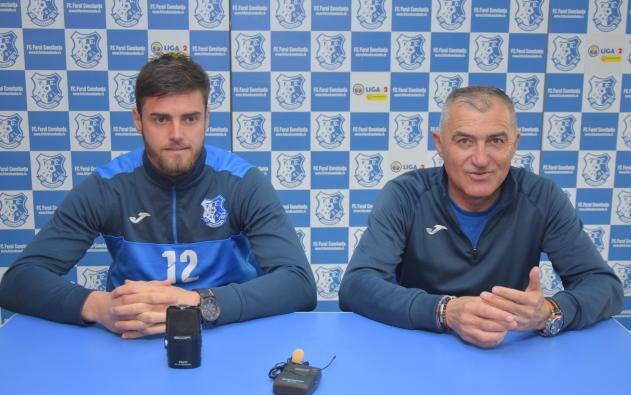 Raul Avram și Petre Grigoraș au participat la conferința de presă desfășurată joi, la stadionul din strata Primăverii