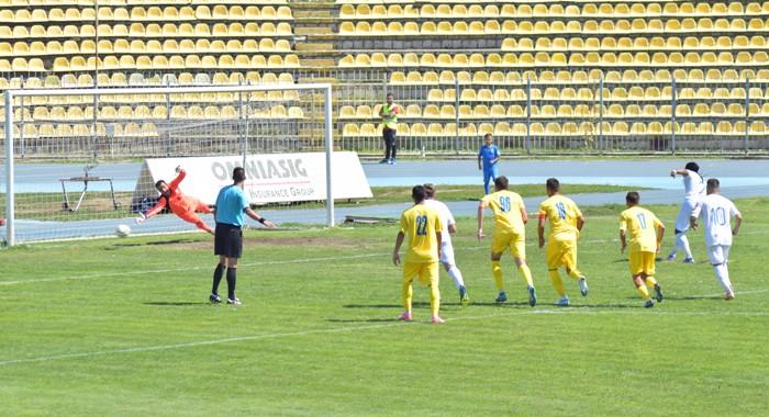 Baudouin Kanda a înscris golul victoriei din penalty