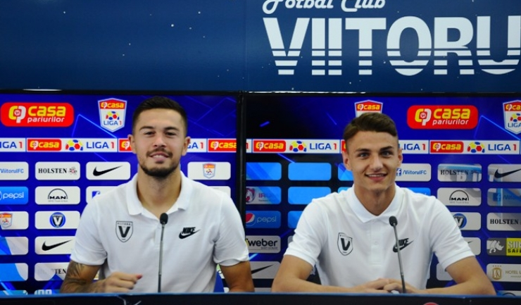 Gabriel  Iancu şi George Ganea speră să înscrie în meciul de duminică