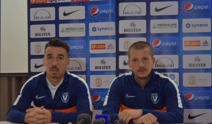 Andrei Artean și Vlad Achim se gândesc la un joc bun și la o victorie în partida de luni