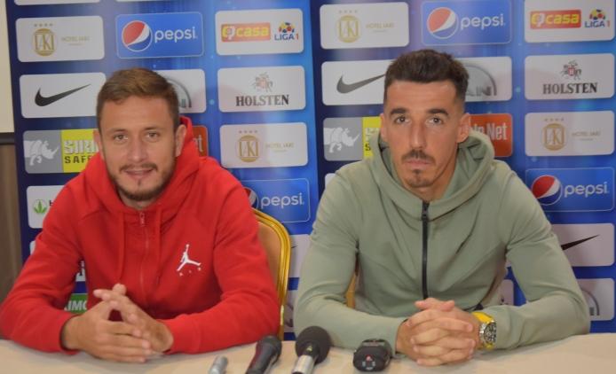 Sebastian Mladen şi Andrei Artean consideră dificil meciul cu Academica Clinceni