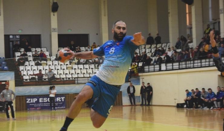 Irakli Chikovani a marcat nouă goluri pentru HCDS în confruntarea cu CSM Focşani