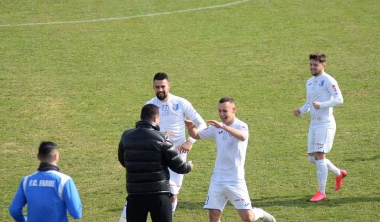 Antonio Cruceru a marcat al doilea gol al Farului în partida de miercuri