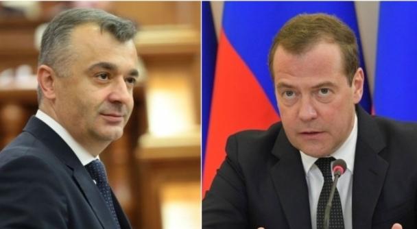 Premierul Republicii Moldova, Ion Chicu - Premierul Federaţiei Ruse, Dmitri Medvedev
