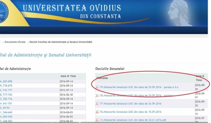 Hotărârea Senatului care dictează reorganizarea admiterii la Teologie în data de 30 septembrie a fost publicată pe... 30 septembrie!!!