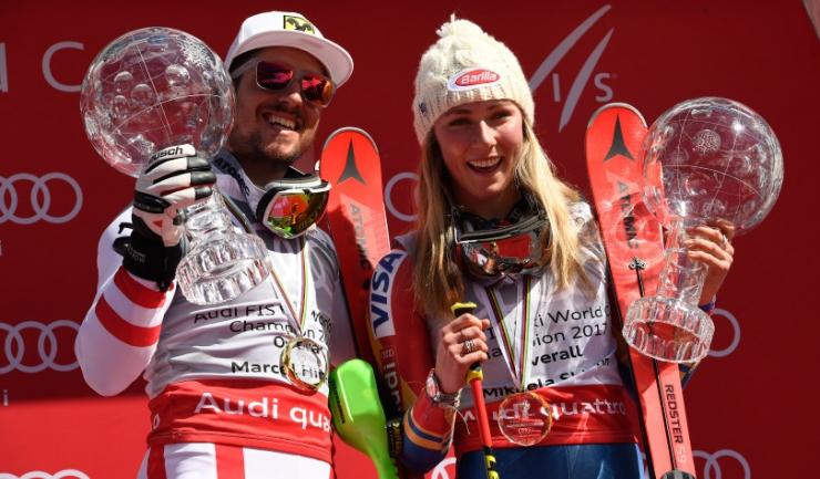 Marcel Hirscher și Mikaela Shiffrin - cei mai valoroși schiori ai sezonului