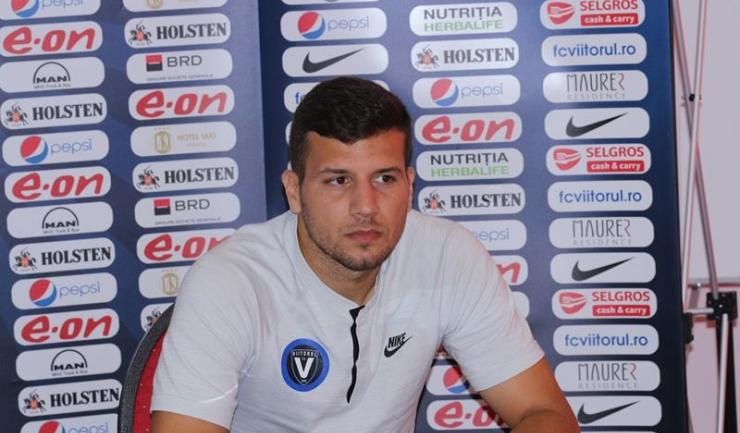 """George Țucudean, jucător FC Viitorul: """"Ne dorim ca victoria de la Chiajna să constituie un restart pentru Viitorul în acest campionat"""""""