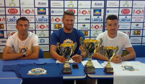 Vasile Șicu, Claudiu Moraru și Cosmin Matei speră ca turneul să aducă la rampă viitoarele talente ale fotbalului constănțean și românesc