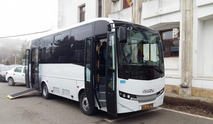 Minibuzul Isuzu prezentat Primăriei Constanța este una din variantele care este luată în calcul pentru achiziționare