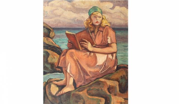 """Camil Ressu - """"Lectură pe malul mării"""""""