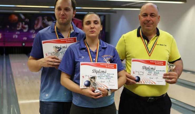 Triple Strike București a ocupat locul 3 în proba de trio