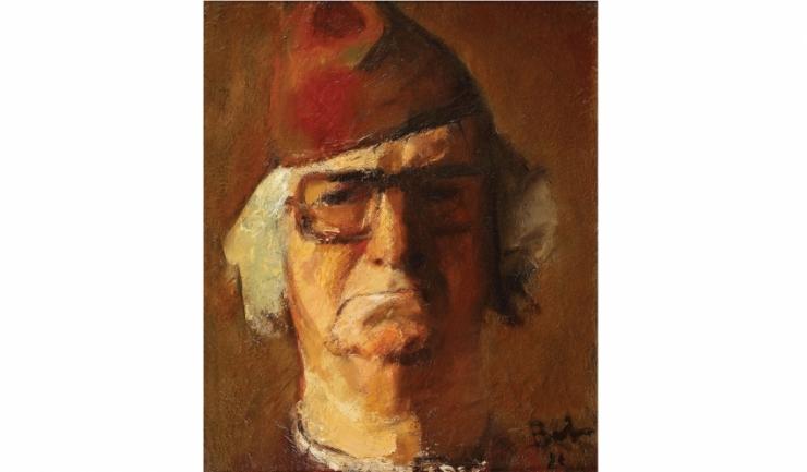 """Corneliu Baba - """"Portretul unui bătrân urâcios (Autoportret)"""""""