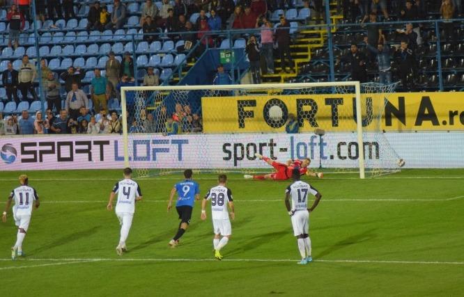 Rivaldinho a înscris din penalty