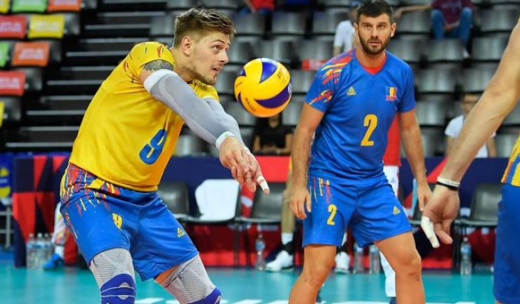 Adrian Aciobăniţei a fost omul numărul 1 al formaţiei noastre la turneul final (sursa foto: www.cev.eu)