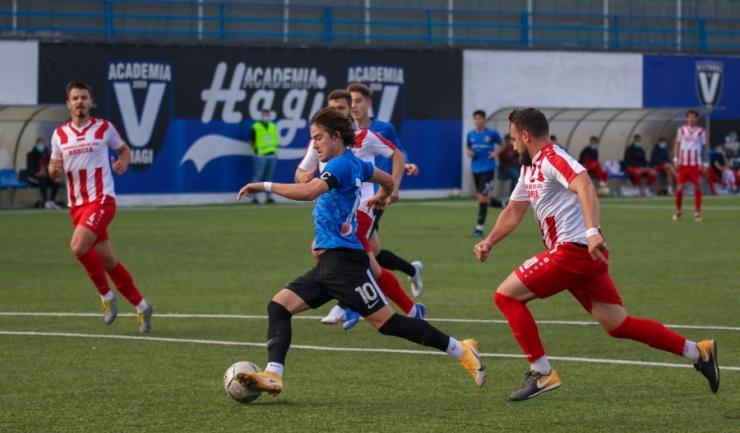 Alexi Pitu, căpitanul formaţiei constănţene, a marcat două goluri în meciul de miercuri