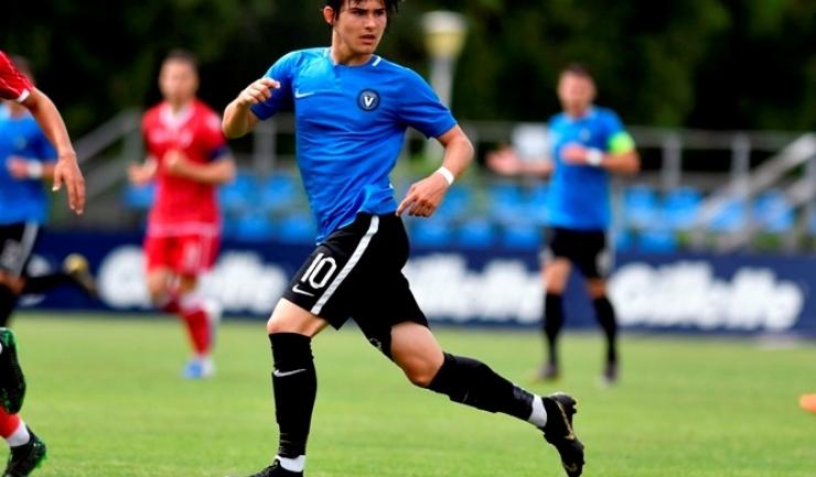 Alexi Pitu este cel mai tânăr jucător român din istorie care a debutat în Cupele Europene (sursa foto: www.fcviitorul.ro)