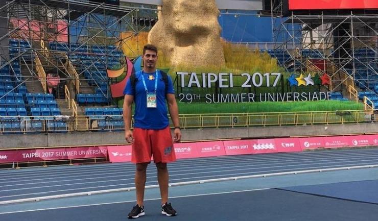 Alin Firfirică a obținut medalia de argint în proba de aruncare a discului (sursa foto: facebook Alin Firfirica)
