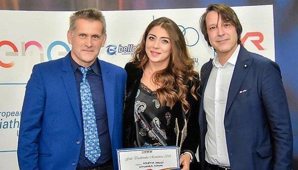 Antoanela Manac a obţinut în 2018 medalia de aur la Campionatele Europene de Aquathlon - secțiunea U23 (sursa foto: frtri.ro)