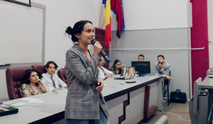 Antonia-Laura Pup, președintele Consiliului Național al Elevilor.