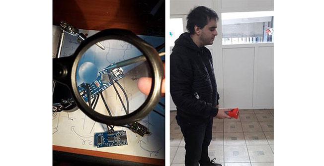 Ștefan Moisei a fost primul nevăzător care a testat dispozitivul de orientare spațială, proiectat de fizicianul Cosmin Vatră