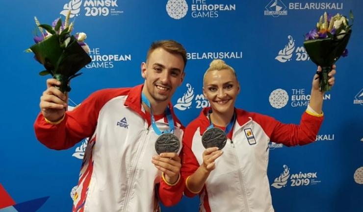 Dacian Barna şi Andreea Bogati (sursa foto: Facebook Comitetul Olimpic si Sportiv Roman)