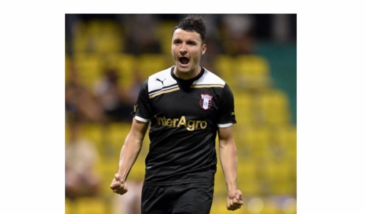 Venit de la Astra, Budescu a înscris din penalty primul gol într-un meci oficial pentru FCSB (sursa foto: Facebook)