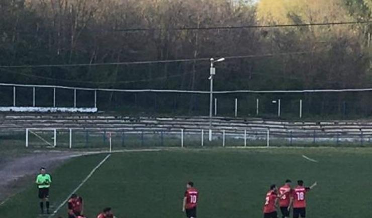 Axiopolis a înscris golul victoriei în prelungirile partidei (sursa foto: Facebook Suporter Axiopolis Cernavodă)