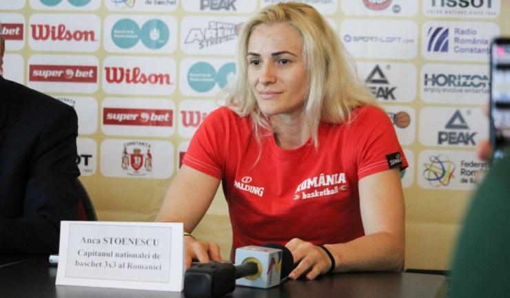 Anca Stoenescu, căpitanul echipei naționale de baschet 3x3 a României