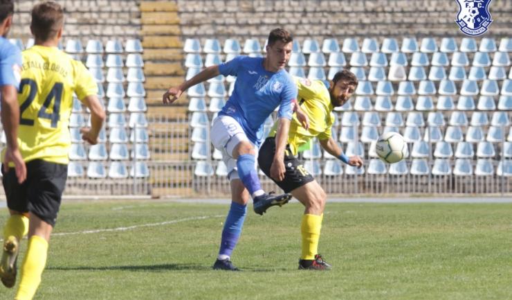 Atacantul Andrei Banyoi a marcat golul victoriei (sursa foto: www.fcfarulconstanta.ro)