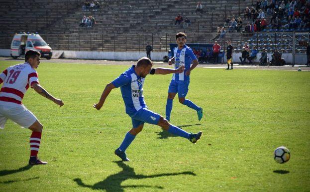 Ionuţ Florea, căpitanul formaţiei din Medgidia, a deschis scorul în partida de sâmbătă (sursa foto: Facebook Clubul Sportiv Medgidia)