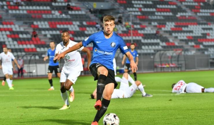 Ștefan Bodișteanu a bifat primul meci în Liga 1 (sursa foto: www.fcviitorul.ro)