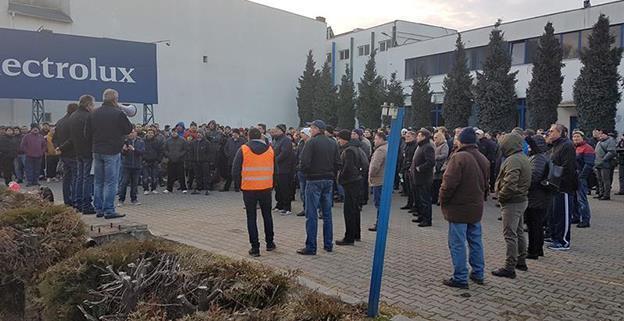 Peste 400 muncitori de la Electrolux Satu Mare sunt în grevă de șapte săptămâni