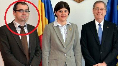 Procurorul DNA Structura Centrală Marius Bulancea, alături de Codruța Kovesi și fostul ambasador al SUA la București, Mark Gitenstein