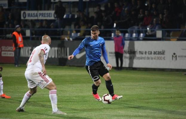 Andreias Calcan a reuşit o dublă în meciul de sâmbătă (sursa foto: fcviitorul.ro)