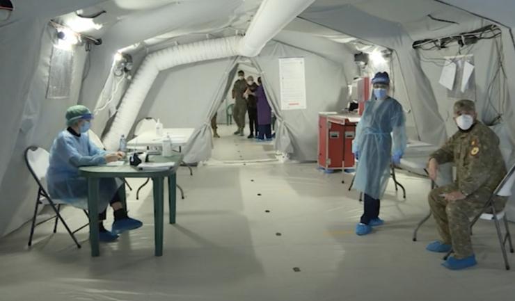 Foto: captură Youtube, Centrul de Vaccinare, spitalul de campanie