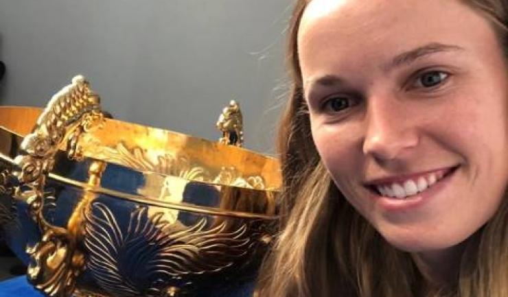 Caroline Wozniacki a câștigat pentru a doua oară turneul de la Beijing (sursa foto: Facebook WTA)