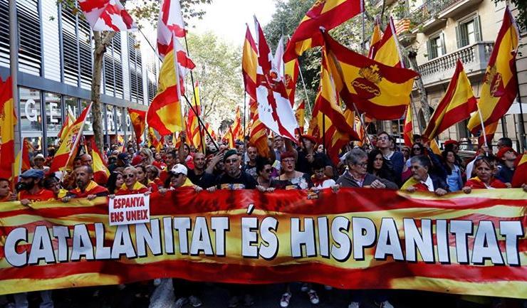 Susținătorii cauzei spaniole au afișat un mesaj fără echivoc: