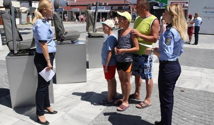 Polițiștii constănțeni au demarat o amplă campanie de conștientizare a pericoulului de pe șosele