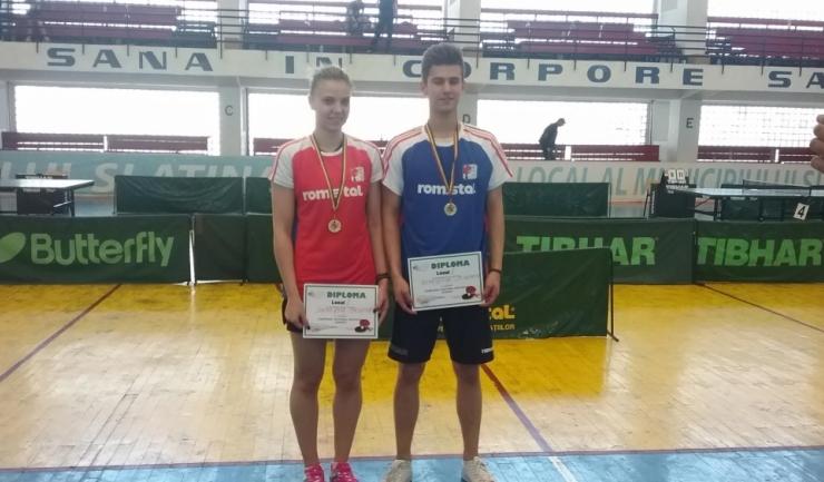 Adina Diaconu și Cristian Pletea puteau realiza tripla la Slatina dacă nu pierdeau finala probei de dublu mixt!