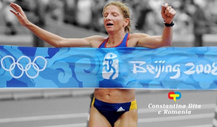 Constantina Diță a devenit campioană olimpică la maraton în 2008, la Beijing