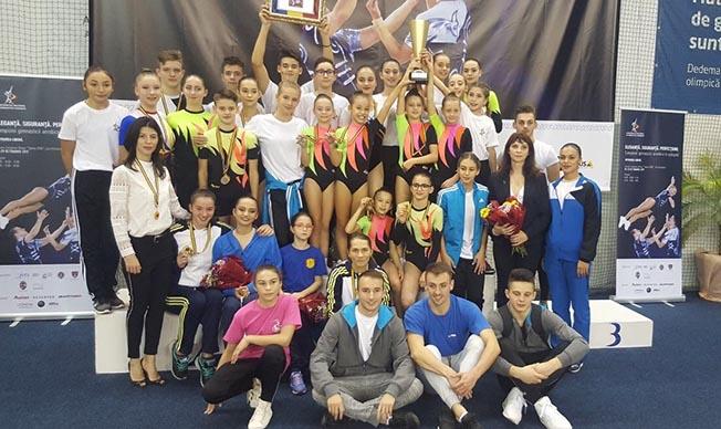 Farul Constanța a fost cel mai bun club participant la Campionatele Naționale de gimnastică aerobică