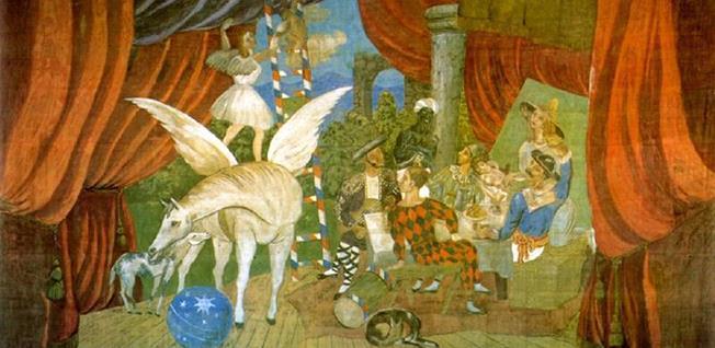 """Pablo Picasso – Cortina pictată special pentru """"Parada"""". Sursa foto: arthive.com"""