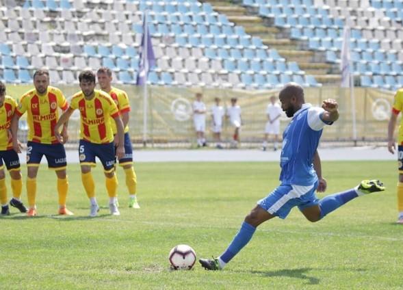 Pedro Celestino a înscris ultimul gol al Farului în sezonul 2018-2019 (sursa foto: Facebook FC Farul Constanța)