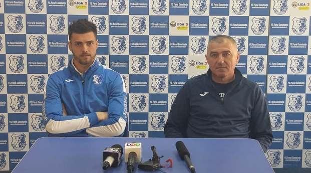 Portarul Raul Avram și antrenorul Petre Grigoraș vor ca Farul să urce în clasament