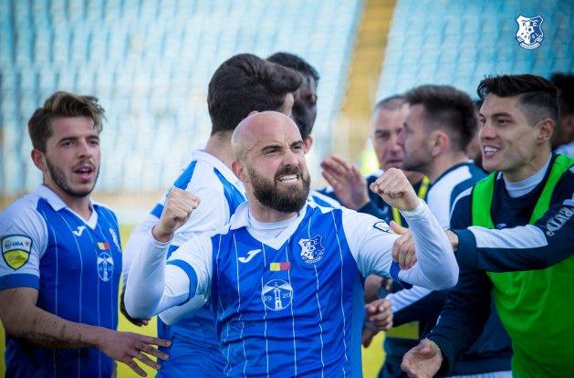 Georgian Păun a înscris un gol extrem de important (sursa foto: Facebook FC Farul Constanța)