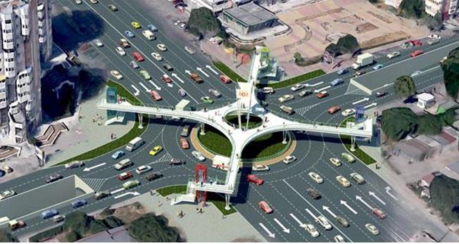 Acest OZN este, de fapt, proiectul pasajului rutier subteran din Constanța, ce ar fi trebuit amenajat în zona Podului de la Butelii