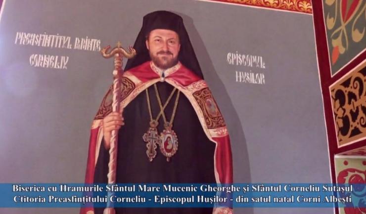 Corneliu Bârlădeanu, Episcopul Huşilor, acuzat de lucruri incredibile, este pictat pe peretele unei biserici din satul său natal