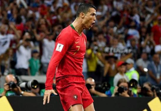 Cristiano Ronaldo a avut o evoluţie perfectă în meciul Portugalia - Spania (sursa foto: Facebook FIFA World Cup)