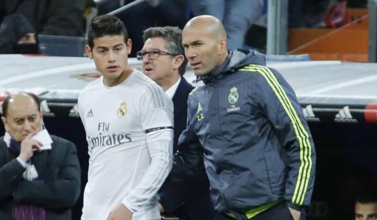 James Rodriguez nu s-a numărat printre favoriții lui Zinedine Zidane