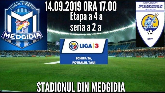 În Liga a 3-a la fotbal este programat derby-ul dobrogean dintre CS Medgidia şi CS Poseidon Limanu-2 Mai (sursa foto: Facebook CS Poseidon 2 Mai)